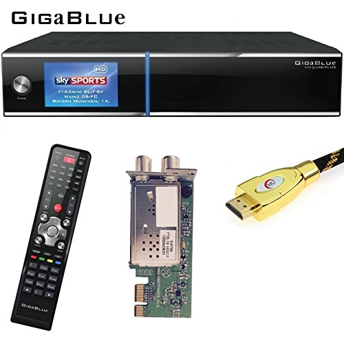 GigaBlue HD Quad Plus Linux HDTV Receiver + 1x Hybrid Tuner DVB/C...