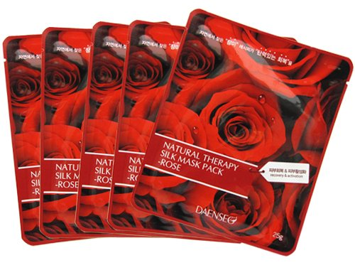 Natural Therapy Silk Mask Pack Rose 5枚セット