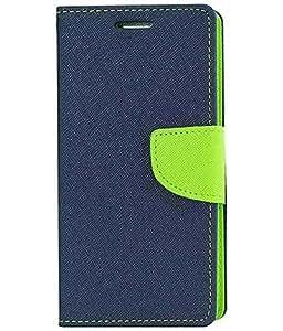 Sunny Fashion Mercury Goospery Wallet Flip Case Cover for Samsung Galaxy Grand 2 G7106 / G7102-Blue/Green