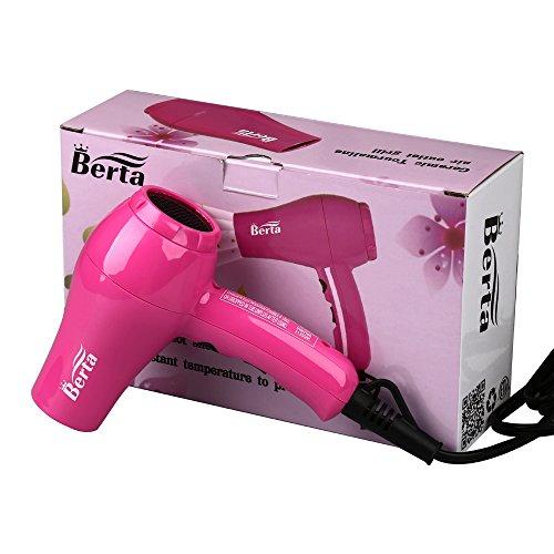 Berta Mini Blow Dryer Ionic Ceramic Mini Hair Dryer For