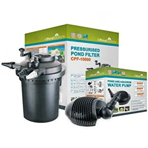 Complete pressurized fish ponds filter system cpf 10000 for Fish pond filter accessories