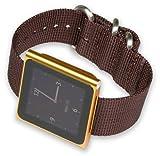 iPod Nano Watch Strap - Brown Nylon
