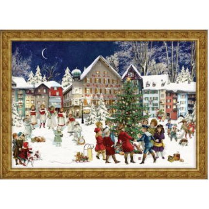 Victorian Christmas Tree Advent Calendar: Winter Carolers