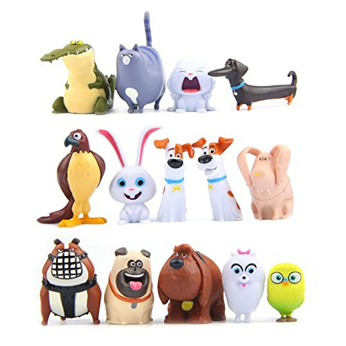 14pcs/lot Cartoon Pets Mini Figures Lovely Model Animal Toys For Kids