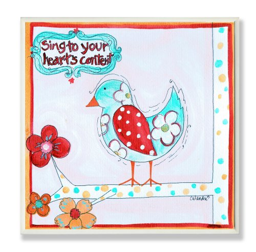 The Kids Room by Stupell Sing to Your Heart's Content Square Wall Plaque
