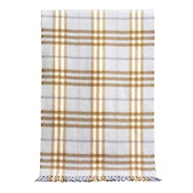 Burberry Check Cashmere Bluebell Woven Mufflers Scarf 3201273