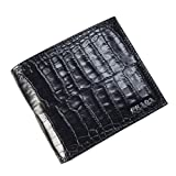 (プラダ)PRADA クロコ型押し二つ折財布(小銭入れ付き)2M0738 435 STAMPA COCCO ブラック [並行輸入商品]