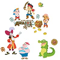 ROOMMATES RMK1778SCS Disney Junior Jake and the Neverland Pirates Peel and Stick Wall Decals from ROOMMATES
