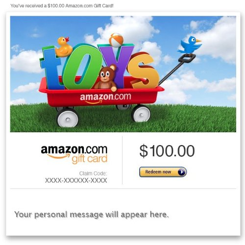 Amazon Gift Card - Email - Amazon Toys