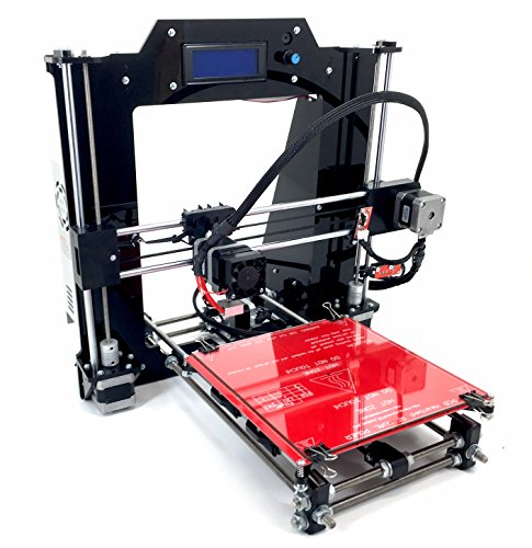 [REPRAPGURU] DIY RepRap Prusa I3 V2 Black 3D Printer Kit With Molded Plastic Parts USA Company