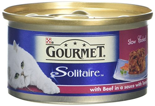 gourmet-solitaire-wet-cat-food-beef-slowly-cooked-in-a-sauce-with-tomato-85-g-pack-of-12
