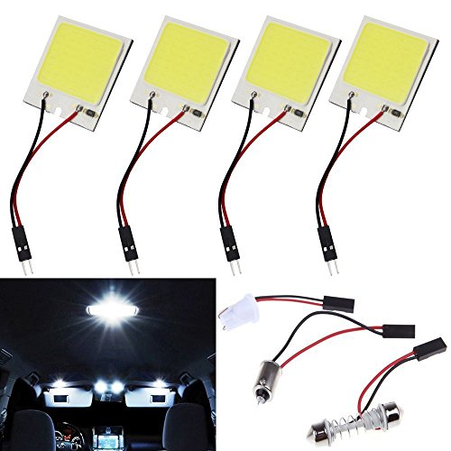 ecosin 48 led smd cob led car panel light interior room dome car light bulb lamp vehicles parts. Black Bedroom Furniture Sets. Home Design Ideas