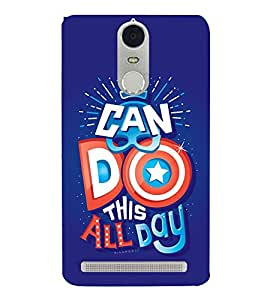 I Can Do This All Day Cute Fashion 3D Hard Polycarbonate Designer Back Case Cover for Lenovo Vibe K4 Note :: Lenovo K4 Note A7010a48 :: Lenovo Vibe K4 Note A7010 :: Lenovo Vibe X3 Lite