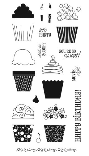 Fiskars 4-Inch-by-8-Inch Clear Stamp, Cupcakes and More