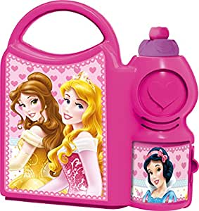 DISNEY PRINCESS SCHOOL CANTEEN SET 52271 PR, LUNCH BOX AND SIPPER BOTTLE BY HMI