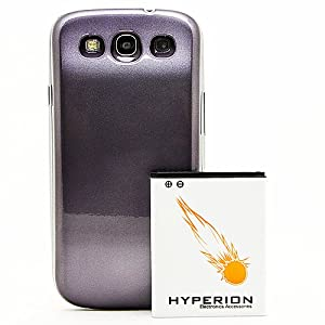Hyperion Samsung Galaxy SIII 4200mAh Extended Battery + Pebble Blue Back Cover (Compatible with Samsung Galaxy S III GT-i9300, AT&T Samsung Galaxy S3 Samsung i747, Verizon Samsung Galaxy S3 Samsung i535, T-mobile Samsung Galaxy S3 Samsung T999, U.S. Cellular Samsung Galaxy S3 R530, and Sprint Samsung Galaxy S3 Samsung L710)**NOW WITH NFC** [Bulk Packaging]