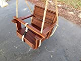 Limited Edition Toddler Wood Swing with 10 Feet of Rope Per Side