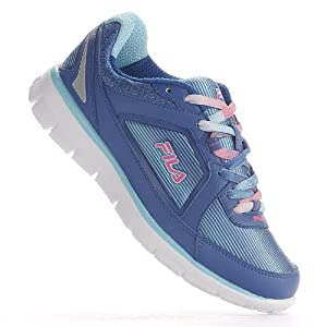 Fila Women's Finest Hour Neoprene Running Shoe,Classic Blue/Bluefish/Knockout Pink,9 M US