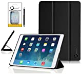 New Apple iPad Mini with Retina Display 2013 2nd Generation - iPad Mini 2 (ALL Model Versions) BLACK Multi-Function SMART FOLIO Front & Back Case / Smart Cover / Typing & Viewing Stand / Premium Flip Case With Magnetic Sleep Sensor & Screen Protector Shi