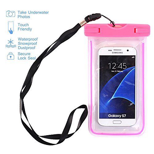 NOKEA Universal Waterproof Case Floating Dry Bag Buggy Bag for Outdoor Sports with Ipx8 Certified for Apple iPhone 7, 6S, 6, 6S Plus, SE 5S 5C 4S Devices under 6 Inches (Rose) (Iphone 4s Cases Sewing Machine compare prices)