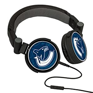 NHL Vancouver Canucks Oversized Logo Headphones by Pangea Brands