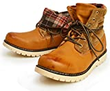 (リベルト エドウィン) LIBERTO EDWIN ワークブーツ レイン トレッキング シューズ ブーツ 2WAY 折り返し 防水 防寒 メンズ 靴 27cm Camel キャメル