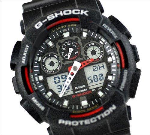 Casio Men's GA100-1A4 G-Shock X-Large Analog-Digital Black Dial Sports Watch