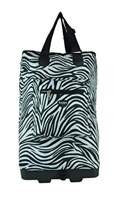 Hoppa Wheeled Hand Luggage Cabin Bag Folding Flight Bag on Wheels RYANAIR