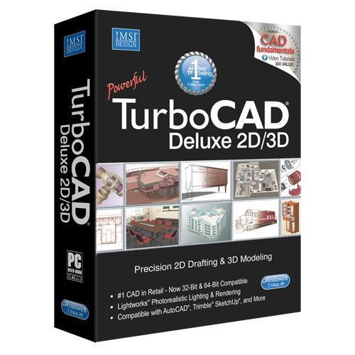 Turbocad 20 deluxe 2d cad design 3d modeling software for 3d cad software