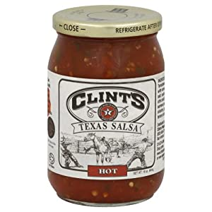 Clints Salsa Texas Hot 16 oz (Pack Of 6) by Clints