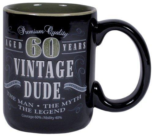 Laid Back Cf11016 60Th Bd Vintage Dude Coffee Mug, 14-Ounce