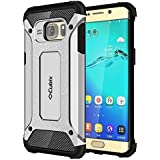 Galaxy S6 Edge+ Case Cubix Rugged Armor Case For Samsung Galaxy S6 Edge+ (Silver)