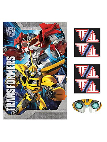 Amscan Mighty Transformers Birthday Party Game (4 Piece), Red/Blue/Yellow, 37 1/2 x 24 1/2""