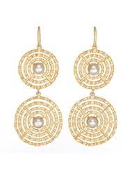 Amethyst By Rahul Popli Gold Gold Plated Dangle & Drop Earrings