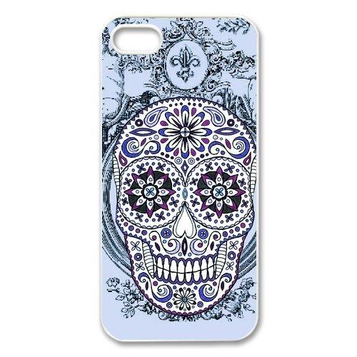 Unique Floral Sugar Skull For Iphone 5 Case Cover
