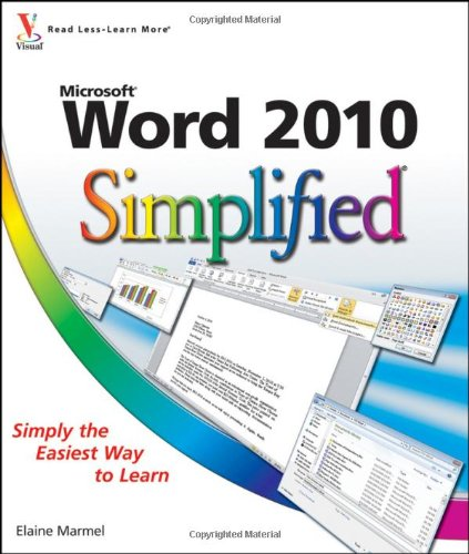 Word 2010 Simplified (Simplified (Wiley))