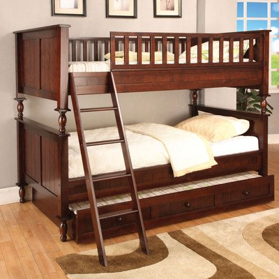 Hokku Designs Milton Twin Over Twin Bunk Bed With Ladder front-525827