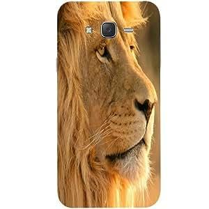 Casotec Lion Design Hard Back Case Cover for Samsung Galaxy J2