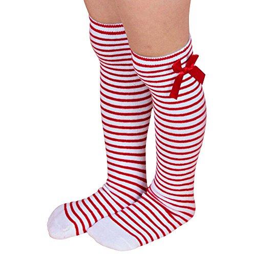 cradlebeauty-kids-girls-bowknot-striped-soft-cotton-long-knee-socks-leg-warmers