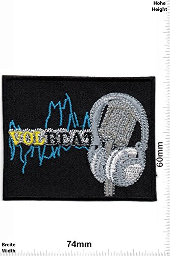 Patch - Volbeat - VOL BEAT - MusicPatch - Rock - Chaleco - toppa - applicazione - Ricamato termo-adesivo - Give Away