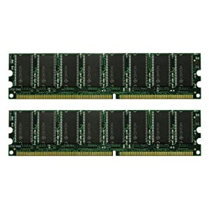 Centon 2GBDUALPC3200 2GB PC3200 400 MHz DDR DIMM Memory Kit