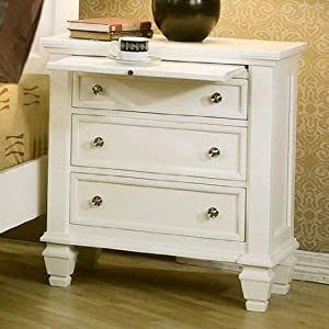 Sandy Beach White Nightstand by Coaster Furniture