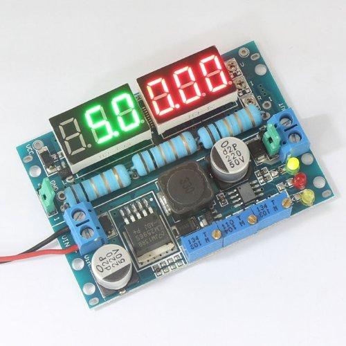 Makerfire® Lm2596 Dc Buck Converter Constant Current/Voltage 7-26V To 1.25-25V 5V/12V Power Supply, Led Voltmeter Ammeter Display Diy Wiki