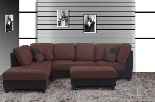 Astounding Beverly Furniture 3 Piece Synthia Left Chaise Sectional Sofa Squirreltailoven Fun Painted Chair Ideas Images Squirreltailovenorg