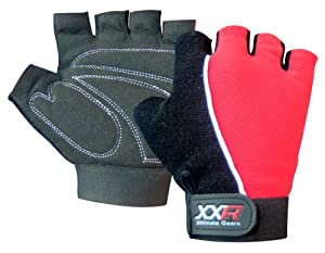 xxr Gel Max Padded Cycling Gloves MTB Mountain Bike Biker Gloves Fingerless Bicycle Exercise Gym Fitness Gloves Amara Gloves (Small)