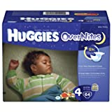 Huggies Overnites Diapers, Size 4, Big Pack, 64 Count ~ Huggies