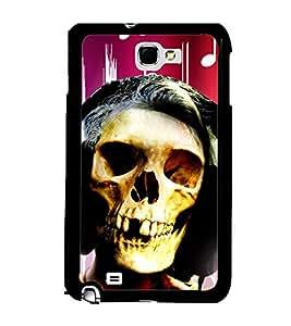 Fuson 2D Printed Skull Face Designer back case cover for Samsung Galaxy Note 1 N7000 - D4620