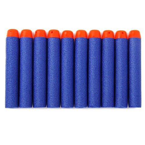 BESTOYARD 200pcs Fléchettes pour Bullets Nerf N-Strike Foam Darts Recharge pour Nerf N-Strike Elite Series Blasters Kids Toy Gun (Bleu)
