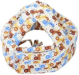 Baby Infant Toddler Children No Bumps Safety Helmet Head Cushion, Coffee Lion