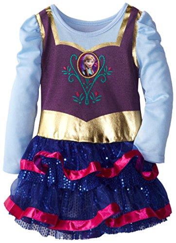 Disney Little Girls' Frozen Dress With Cape, Blue, 3T